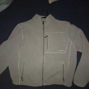 Gray Cabela's zip up fleece.
